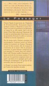 Le passager - 4ème de couverture - Format classique