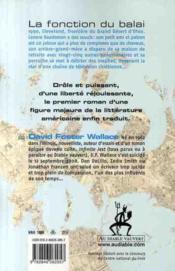 La fonction du balai - 4ème de couverture - Format classique