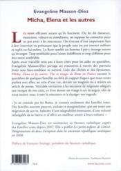 Micha, Elena et les autres ; vies et visages de Roms en France - 4ème de couverture - Format classique