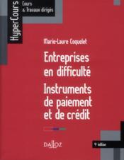 Entreprises en difficulté ; instruments de paiement et de crédit (4e édition) - Couverture - Format classique