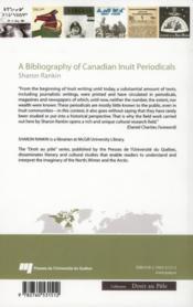 A bibliography of canadian inuit periodicals - 4ème de couverture - Format classique