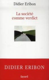 La société comme verdict - Couverture - Format classique
