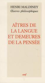 Aitres De La Langue Et Demeures De La Pensee - Couverture - Format classique
