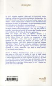 Commentaires du cantique des cantiques de Hjalmar Ekström (1885-1962) ; lettres spirituelles - 4ème de couverture - Format classique