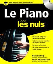 Le piano pour les nuls - Couverture - Format classique