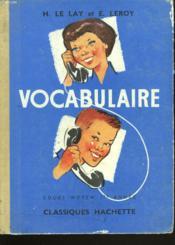VOCABULAIRE. COURS MOYEN 1e ANNEE. - Couverture - Format classique