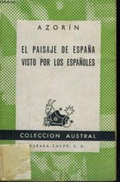 El Paisaje De Espana Visto Por Los Espanoles - Couverture - Format classique