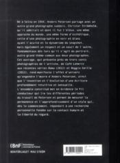 Anders Petersen - 4ème de couverture - Format classique