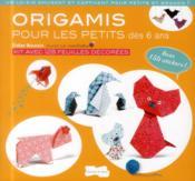 Origami pour les petits - Couverture - Format classique