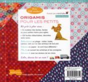 Origami pour les petits - 4ème de couverture - Format classique