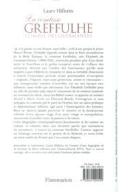 La comtesse Greffulhe ; l'ombre des Guermantes - 4ème de couverture - Format classique