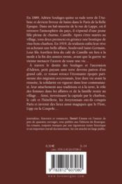 Le café de Camille - 4ème de couverture - Format classique