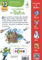 La cabane de Ratus - 4ème de couverture - Format classique