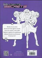 Barbie agent secret ; mon histoire à colorier - 4ème de couverture - Format classique