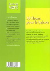 Fleurir son balcon - 4ème de couverture - Format classique