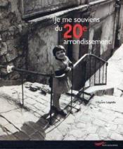 Je me souviens du 20e arrondissement - Couverture - Format classique
