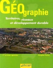 Géographie ; territoires, réseaux et développement durable ; 1ère et terminale agricoles (édition 2005) - Couverture - Format classique