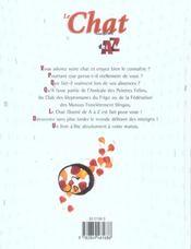 Le chat illustré de A à Z - 4ème de couverture - Format classique