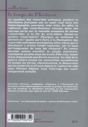 Minorités politiques en Révolution 1789-1799 - 4ème de couverture - Format classique