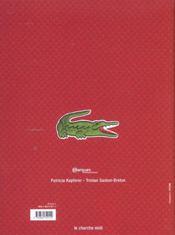 La Legende Lacoste - 4ème de couverture - Format classique