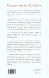 Voyages vers les Pyrénées - 4ème de couverture - Format classique