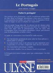 Le portugais pour mieux voyager - 4ème de couverture - Format classique