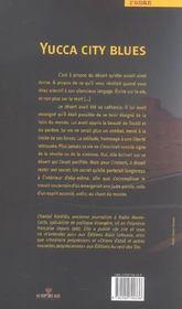 Yucca city blues - 4ème de couverture - Format classique
