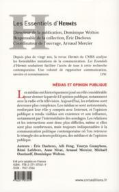 Médias et opinion publique - 4ème de couverture - Format classique