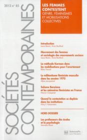 Societes Contemporaines 85 - Couverture - Format classique