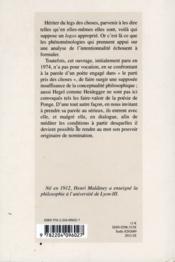 Legs Des Choses Dans L'Oeuvre De Francis Ponge - 4ème de couverture - Format classique
