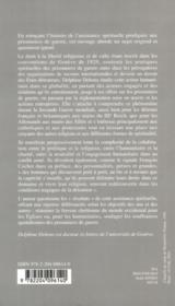 Assitance Spirituelle Aux Prisonniers De Guerre. Un Aspect De L'Action Humanitaire - 4ème de couverture - Format classique