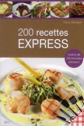 200 recettes express - Couverture - Format classique