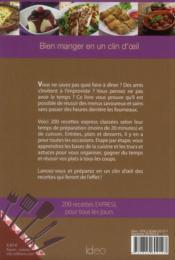 200 recettes express - 4ème de couverture - Format classique