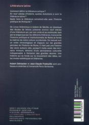 Littérature latine (2e édition) - 4ème de couverture - Format classique
