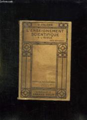L Enseignement Scientifique A L Ecole Cours Elementaire. - Couverture - Format classique