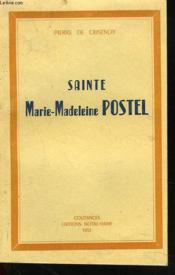 Sainte Marie-Madeleine Postel - Couverture - Format classique