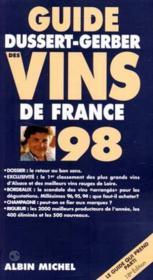 Guide Dussert Gerber Des Vins De France 98 - Couverture - Format classique