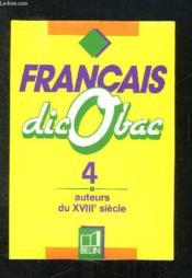 Francais 4 auteurs 18° siecle - Couverture - Format classique