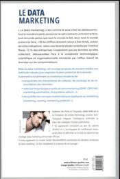 Le data marketing - 4ème de couverture - Format classique