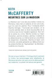 Meurtres sur la Madison - 4ème de couverture - Format classique