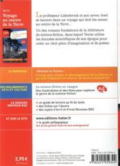 Voyage au centre de la terre ; 1re ; parcours : science et fiction (édition 2020) - 4ème de couverture - Format classique