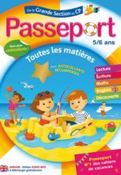 Passeport ; de la grande section au CP ; toutes les matières - Couverture - Format classique