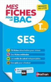 MES FICHES ABC DU BAC T.13 ; sciences économiques et sociales ; terminale (édition 2020) - Couverture - Format classique