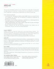 Mercator ; Theorie Et Pratique Du Marketing - 4ème de couverture - Format classique