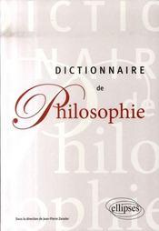 Dictionnaire de philosophie - Intérieur - Format classique