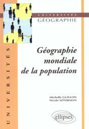 Geographie Mondiale De La Population - Couverture - Format classique