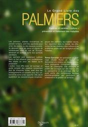 Grand Livre Des Palmiers (Le) - 4ème de couverture - Format classique