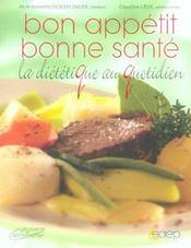 Bon appetit, bonne sante ; la dietetique au quotidien - Intérieur - Format classique