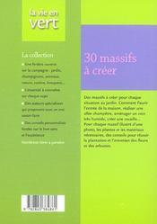 30 massifs clés en main - 4ème de couverture - Format classique