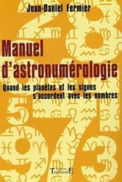 Manuel D'Astronumerologie - Couverture - Format classique